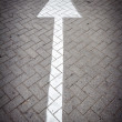 Arrow sign on a road — Stock Photo #46598807