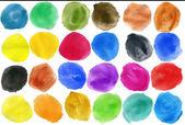 Watercolor hand painted circles  — Stock Photo