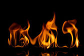 Grainy fire flames   — Stock Photo