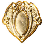 Old gold brooch  — Stock Photo