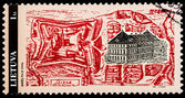 Lithuanian post stamp — Stok fotoğraf
