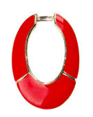 Red enamel circle — Stock Photo