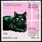 Post stamp from Laos — Stockfoto