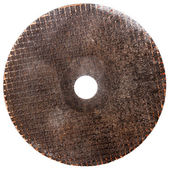 Abrasive disk for metal cutting — Stock Photo