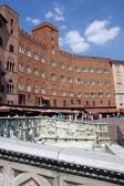 Campo square detail, Siena, Italy — Stock Photo