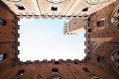 Palazzo Publico and Torre del Mangi, Siena, Italy — Stock Photo