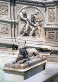 Fountain of Joy detail, Siena, Italy — Stock Photo
