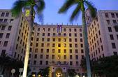 Main entrance to the Hotel Nacional de Cuba. — Stock Photo
