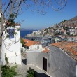 Panoramic view of Hydra port II, Greece — Stock Photo
