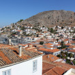 Panoramic view of Hydra port, Greece — Stock Photo