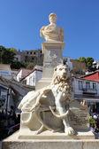 Statue of Admiral Kountouriotis, Hydra, Greece — Stock Photo