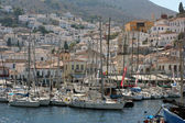 Panoramic view of Hydra port III, Greece — Stock Photo