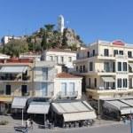 Clock tower of Poros island, Greece — Stock Photo