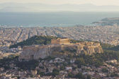 Acropolis of Athens as seen from Lycabetus Hill — Stock Photo