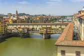 Bridges over river Arno, Florence, Italy — Stock Photo