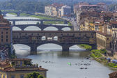 Bridges over river Arno II, Florence, Italy — Stock Photo