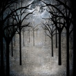 Royalty-Free Stock Photo: Horror forest with full moon