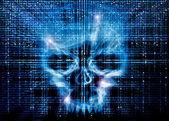 Antecedentes de ataque de hacker — Foto de Stock