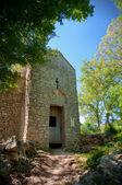 St krsevan kostela fachade na přírodu na krk - chorvatsko — Stock fotografie