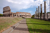 Coliseum view from Venus temple - Roma - Italy — Stock Photo