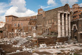 Foro di Augusto ruins at Roma - Italy — Stock Photo