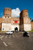 门迪圣塞巴斯和博物馆阿尔村在罗姆-意大利 — 图库照片