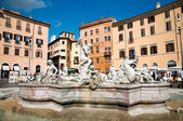 Fontana di Neptuno at Piazza Navona - Roma - Italy — Stock Photo