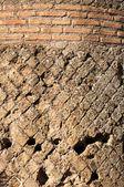 Details of ancient roman bricks wall at Villa Adriana — Stock Photo