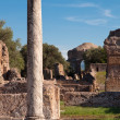 Roman column and Ruins at Villa Adriana - Stock Photo