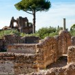 Roman constructions ruins at Villa Adriana - Stock Photo