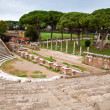Amphitheatre steps and mausoleum in Ostia antica - Rome — Stock Photo #20878669