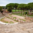 Amphitheatre steps and mausoleum in Ostia antica - Rome — Stock Photo