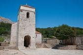 St Lucia church and patio at jurandvor - Baska - krk - Croatia — Stock Photo