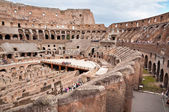 Walls and passages inside colosseum at Rome — Stock Photo