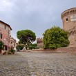 Borgo di Ostia antica and Castello di Giulio II at Rome — Stock Photo