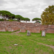 Royalty-Free Stock Photo: Ruins from caserma dei vigili del fuoco at Ostia Antica - Rome