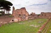 Patrová stadion ruiny boční pohled v patrová hill v Římě — Stock fotografie