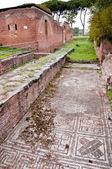 Mozaika a lázně budování ruiny ostia antica — Stock fotografie