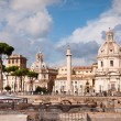 Fori Imperiali panoramic of Colonna Trajana St Maria di Loreto a — Stock Photo