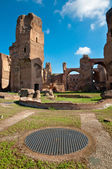 Caracalla springs ruins and grating at Rome — Stock Photo