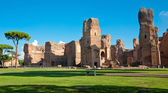 Caracalla springs ruins view from ground panoramic at Rome — Stock Photo