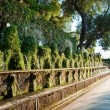 Cento fontane and corridor in Villa D-este at Tivoli - Rome — Stock Photo #23199274