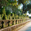 Cento fontane and corridor in Villa D-este at Tivoli - Rome — Stock Photo