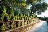 Cento fontane and corridor in Villa D-este at Tivoli - Rome — Stock Photo
