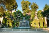 Fontana del Ovato front view in villa D-este at Tivoli — Stock Photo