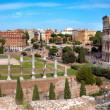Panoramic view of Colosseo arc of Constantine and Venus temple R — Stock Photo