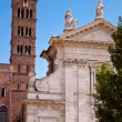 Stock Photo: BasilicsantFrancescRomanand belfry at Romforum