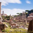 Roman forum panoramic view at Rome — Stock Photo
