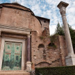 Stock Photo: Temple of romulus at Roman forum