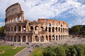 Colosseo view from Roman forum at Rome — Stock Photo